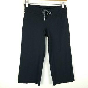 Lululemon Wide Leg Crop Pants Pinstripe Back 1454